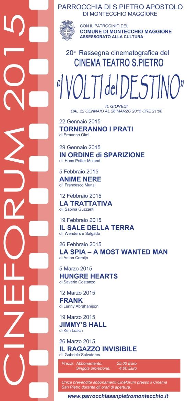 locandina cineforum 2015