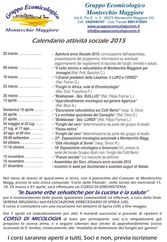 calendario 2015 per esp