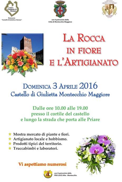 Locandina La Rocca in fiore