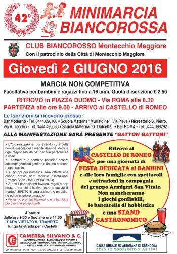 Minimarcia 2016 Volantino A5