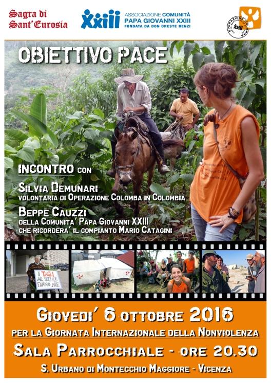 Locandina incontro pub vicenza - sagra di sant'eurosia - ottobre
