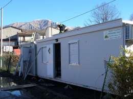 La Protezione Civile installa quattro moduli abitativi per i terremotati diAmatrice