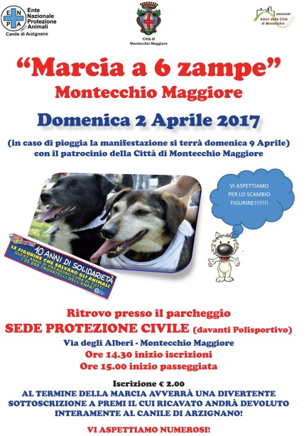 Marcia a 6 zampe 2017 Volantino A4