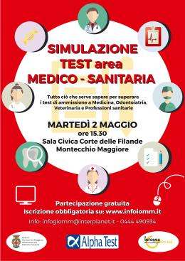 Simulazione dei test di ammissione universitari all'area medico-sanitaria