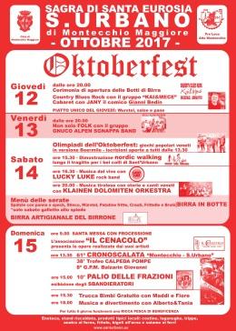 Quattro giorni di festa a S. Urbano con l'Oktoberfest e la Sagra diSant'Eurosia