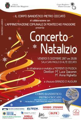 """Concerto natalizio con il Corpo Bandistico """"P.Ceccato"""""""
