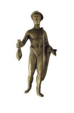 La statuetta ritrovata di Mercurio esposta al MuseoZannato