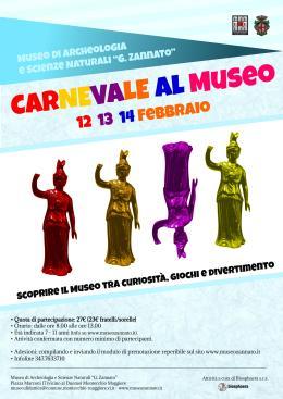 Carnevale e notte al museo, due attività per bambini al MuseoZannato