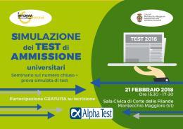 Simulazione dei test di ammissioneuniversitari