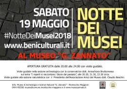 """Notte dei Musei al Museo """"G.Zannato"""""""