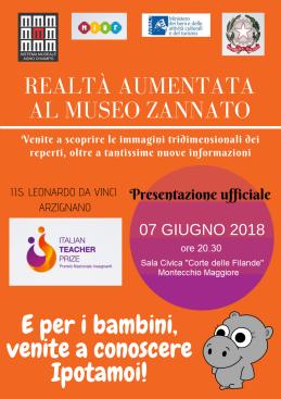 """La realtà aumentata entra al Museo """"Zannato"""" grazie ad un progetto studentesco: un incontro pubblico per illustrare ilprogetto"""
