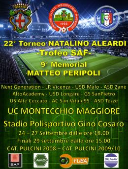 Gran finale per il 22° Torneo Aleardi e il 9° Memorial MatteoPeripoli