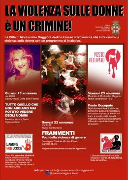 A Montecchio Maggiore novembre è il mese dedicato alla lotta contro la violenza sulledonne
