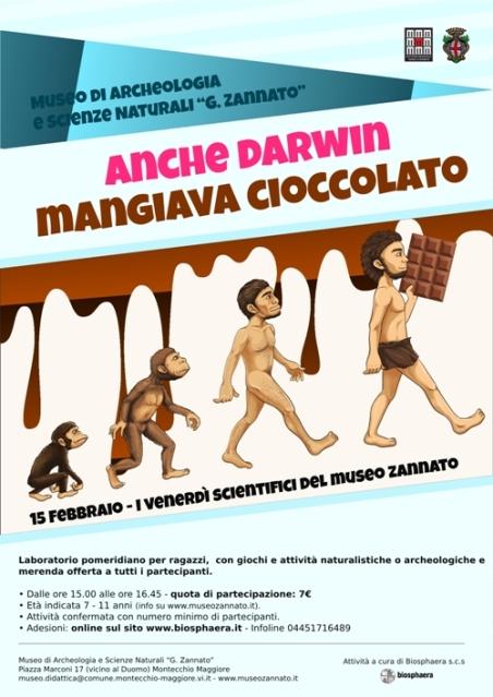 Locandina Merenda al Museo - Darwin Day 20181