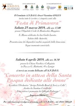 """""""Festa di primavera"""" conl'Andos"""