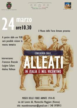 """Conferenza """"Alleati in Italia e nel Vicentino"""""""