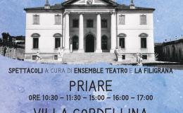"""""""Anno 1761. L'acqua dalla sorgente alla villa"""": il primo acquedotto di Montecchio Maggiore raccontato in uno spettacolo itinerante tra Villa Cordellina Lombardi e lePriare"""