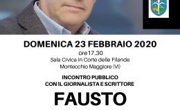 Incontro con Fausto Biloslavo: foibe, esodo e vicende del confineorientale