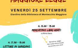 """Letture e mercatino dei libri usati per """"Montecchio Maggiorelegge"""""""