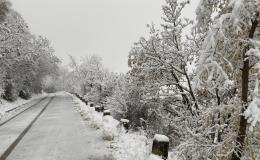 Arriva la neve, piano comunale scattato primadell'alba