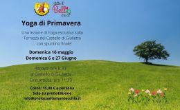 Yoga e passeggiate con spuntino di primavera al Castello diGiulietta